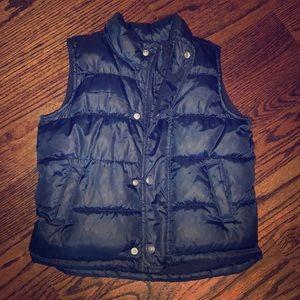 Boys Navy fleece-lined Puffer Vest